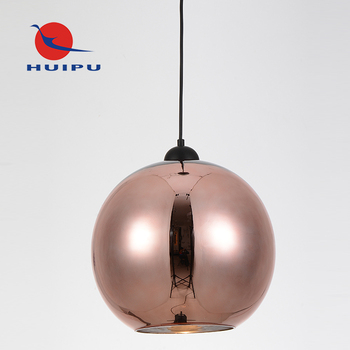 Top selling copper plating glass pendant light for indoor decorate