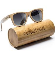 Round handmade wood frame polarized engrave wooden sunglasses custom logo