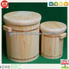 Natural Wooden Rice Bucket For Kitchen Cabinet For Sale,New Design Decorative Wooden Bucket For Sale,Garden Wooden Bucket
