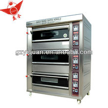gas 3 deck 6 trays Industrial Bakery Oven
