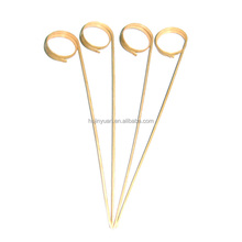 Top sell bamboo looped skewer in heart shape Tied skewer picks finger skewer