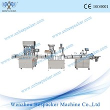 Automatic juice bottle filling capping and labeling machine