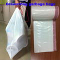 drawstring garbage bag with red tape and high quality