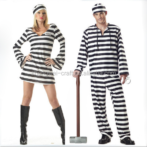 Factory hot sale black and white party costumes