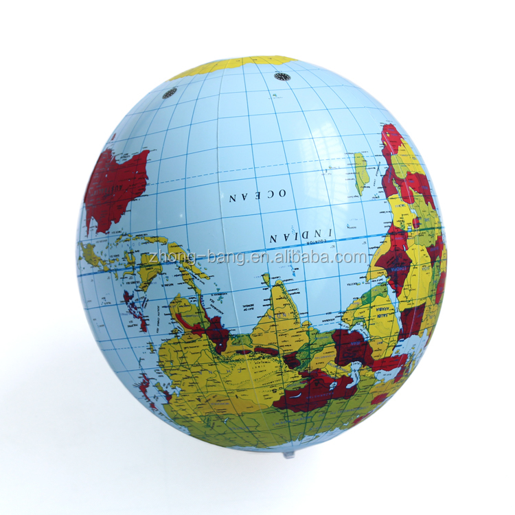 advertising pvc inflatable earth globe beach ball