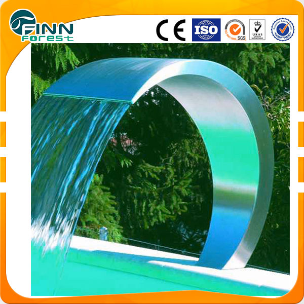 swimming pool and spa pool stainless steel waterfall for pool shower