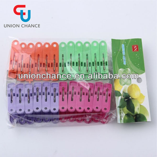 24 PCS Environmental Grade Plastic Clothes Pegs