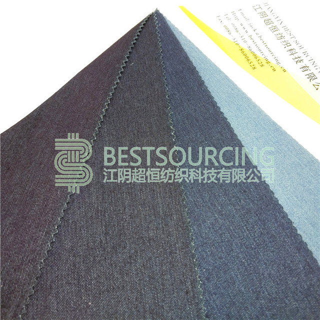 China Made Soft handfeel indigo knit denim fabric manufacturer of CE Standard