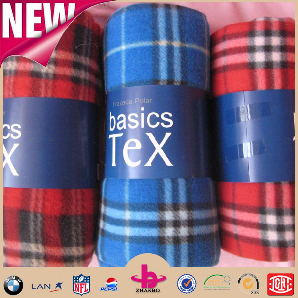 China Cheap Wholesale Fabric Polar Fleece Cobertores Tartan Printing Faux Fur Throw Mora Spain Blanket