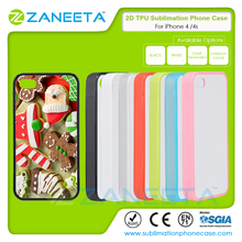Wholesale TPU+PC 2D Printable Phone Cases Sublimation Blank Cell Phone Case For iPhone 4/4S