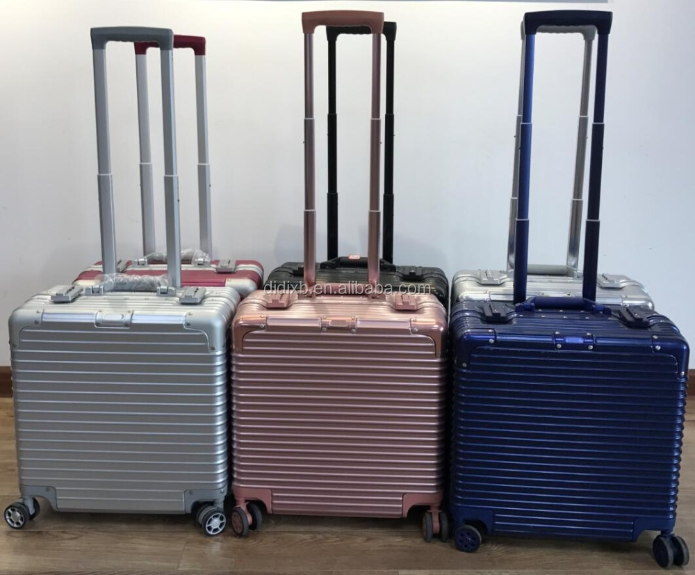 16inch full aluminum trolley computer case with different color