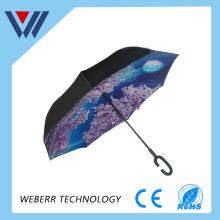 New style Japanese umbrella with c handle of high quanltiy umbrella for f1 soport