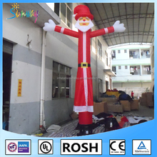 NEW Customized Air Fly Guy Red Santa Tube Man Sigle Leg Inflatable Sky Dancer For Christmas Advertising