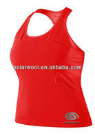 Ladies merino wool T-shirt tank tops