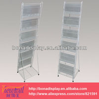fashion metal brochure holder stand