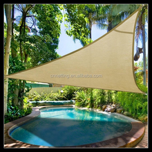 Chinese factory manufacturer yellow triangular sail lateen sun shade net in hot selling