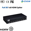 1x8 HDMI Splitter mini hdmi cctv video distribution 8 output Spliter