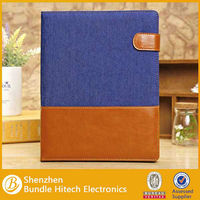 Newest Jeans Genuine Business Flip Leather Case for iPad 2 3 4