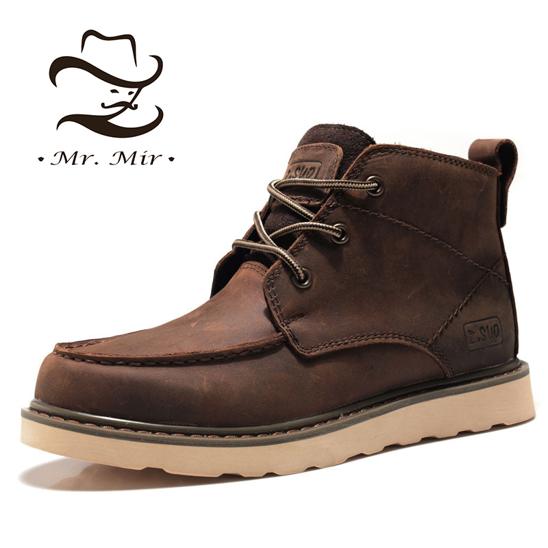 Get Quotations · Mr Mir New Fashion Genuine Leather Men Boots e6f18670a4f5