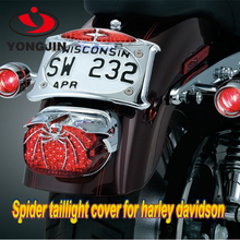 Silver / chrome spider taillight cover for motorcycle & automobile Harley taillight cover