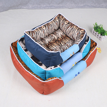 Plush cheap plastic dog beds blue pet bed with non -slip mat