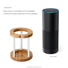 Bamboo Stability Station Stand Guard for Amazon Echo Speaker
