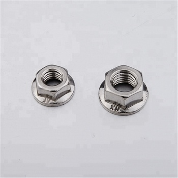 China manufacture stainless steel hex flange nut M4 M5 M6 M8 M10 M12  (2Y51.A)