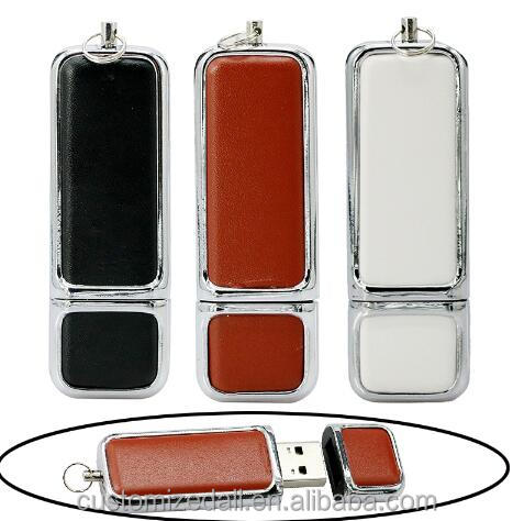 Leather 64GB pen drive real capacity 16GB flash uSB 2.0 memory stick 128gb