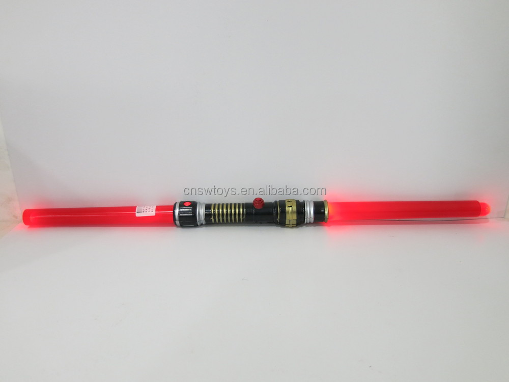 Double-edged laser light up flashing plastic swords toys with EN71
