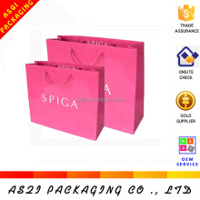 2017 full printing china custom logo shopping paper bag