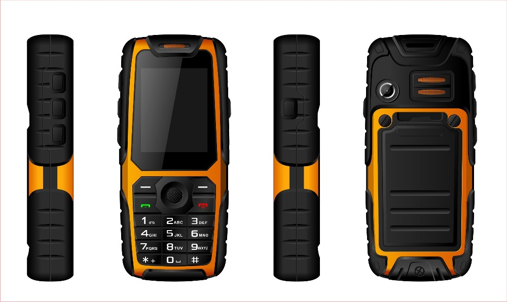 cheapest waterproof phone 1.8 inch rugged mobile phone
