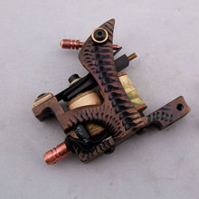 Professional Top High Quality Tattoo Machine 12 coils CNC carving frame Pure manual winding coil