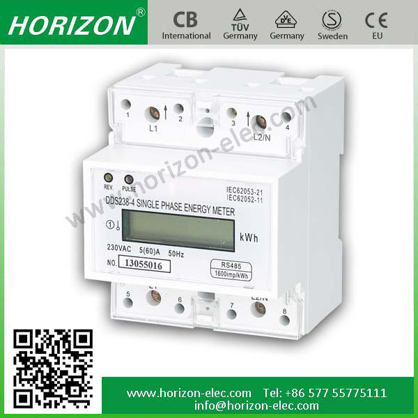 4 Module DDS238-4 ZN 4p din rail RS485/MODBUS-RTU multifunction power meter