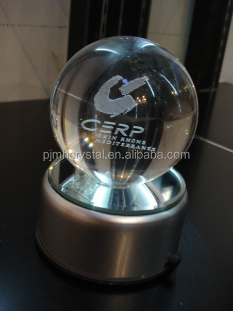 3d engrave clear glass balls for office decoration MH-SQ105
