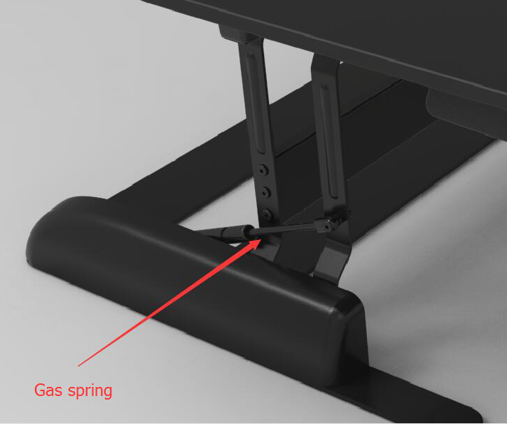 Ergonomic sit to stand adjustable desk riser with 6 height adjustments