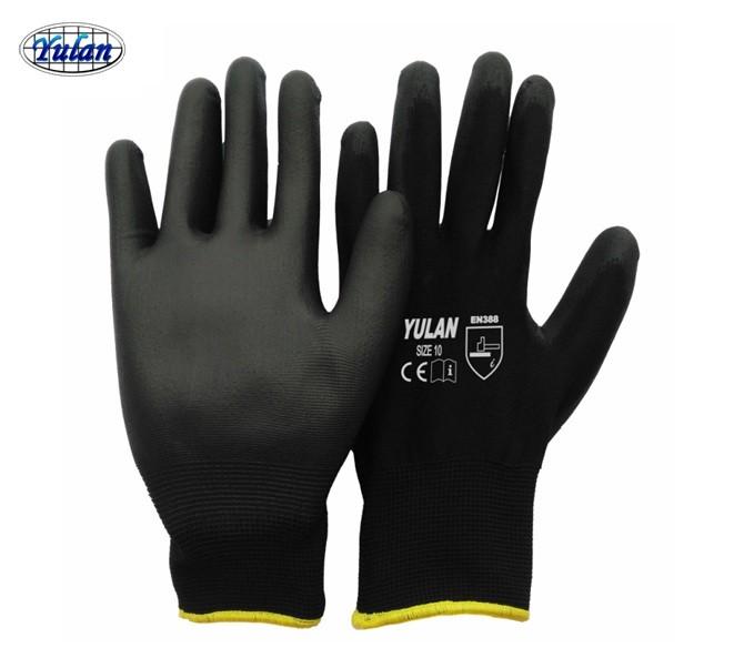 Pu Coated Antistatic Work Gloves Ce En388 Free Sample