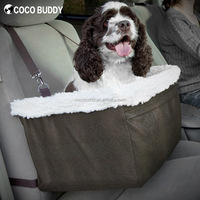 Camo Fleece Padding Auto Booster Seat For Pet Dog Travel
