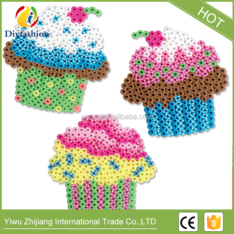 Fashion Eco-friendly funny puzzle Plastic 5mm mini DIY hama perler beads