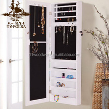 Shipping Fast Wall Recessed Wooden Mirrored Jewelry Cabinet