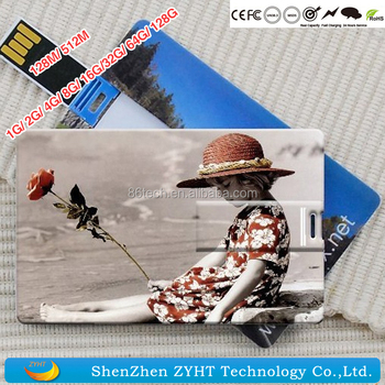 OEM Credit business Card Usb flash drive With both side color printing