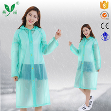 promotional wholesale raincoat pvc poncho with sleeves safety green raincoat for men