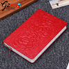 China supplier custom flower embossed leather cover luxury gift notebook