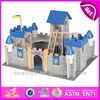 2015 New kids wooden castle model toy,popular children wooden castle model and hot sale baby wooden castle model set WJ277987