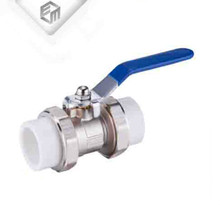 PPR socket type lever handle female union brass ball valve