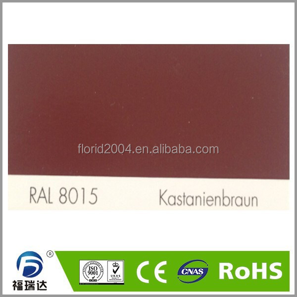 Powder paint interior glossy smooth RAL8015 Chestnut brown