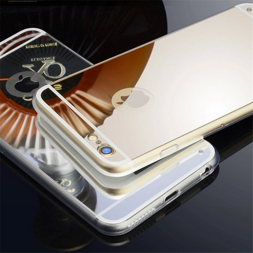 mobile phone shell, hard metal mirror case Cell Phone Case For Mobile Phone Accessories Mirror Bumper Metal Case