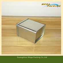 High quality small rectangular metal tin box for storing pads/credit card/business card