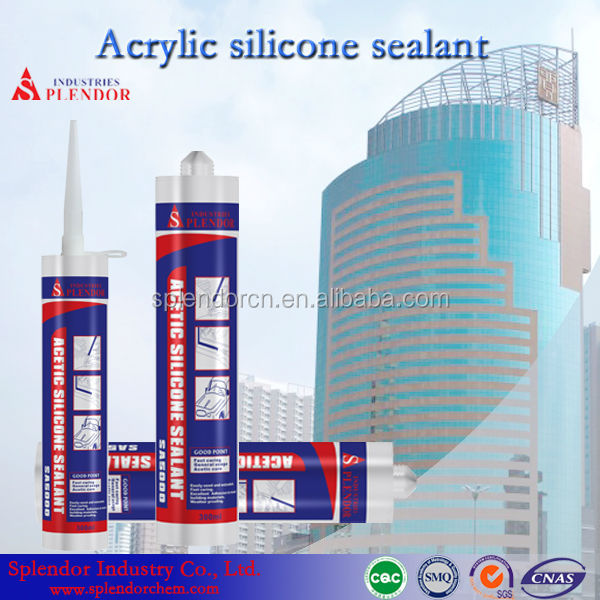 Cheap Acetic Silicone Sealant general purpose silicone sealant for household/ clear coat for silicone sealant adhesive