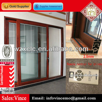 Exterior or Interior sliding door with built-in blinds
