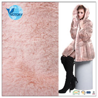 100% Polyester Long Pile Plush Fabric Knitted Fabric for Blanket,Bathrobe,Home Textile,Shoes